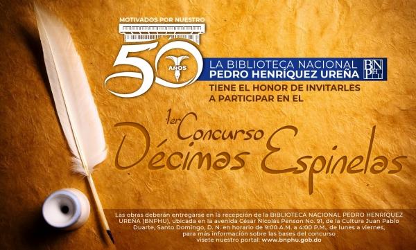 Biblioteca Nacional convoca a Primer Concurso de Décimas Espinelas